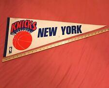 "*RARE* VINTAGE 70s NEW YORK KNICKS PENNANT NBA BASKETBALL FULL SIZE 12x30"""