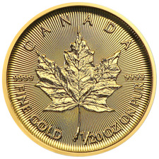 2018 $1 Gold Canadian Maple Leaf .9999 1/20 oz Brilliant Uncirculated