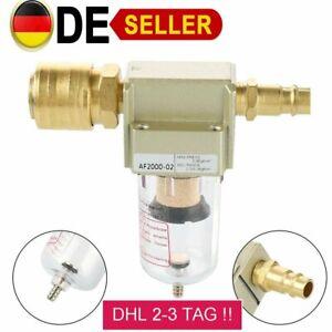 DE Druckluftfilter Wasserabscheider Öler Filter Kompressor Ölabscheider 1/4 Zoll