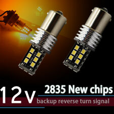 2X 1156 BA15S P21W Car LED Signal Reverse Tail Turn Lights Bulbs Canbus 2835