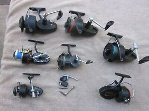 LOT OF 6 VTG MITCHELL SPINNING REELS FOR PARTS/REPAIR ONLY-308-304-486-302-300A+