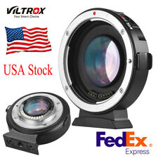 Viltrox EF-M2II Electronic Adapter Booster 0.71x for Canon EOS EF Lens to M3 MFT