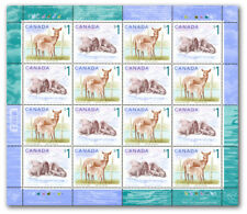 CANADA  (Pane -16 ) - Wildlife: Atlantic Walrus & White-Tailed Deer #1688-89 MNH