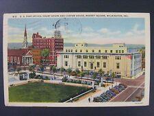 Wilmington Delaware Rodney Square Post Office Vtg Curt Teich Linen Postcard 1944