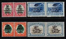 KUT 1941-42 pictorial stamps of South Africa surch., MH pairs (SG#151/154)