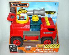 Matchbox Aqua Cannon Fire Engine Truck - 30cm Long, Shoots water up to 20ft -NIP
