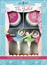 """Muffins-Papierbackförmchen und Deko-Picker """"BALLETT"""" Ballerina, Balletttänzerin"""