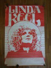 AFFICHE POSTER Original LINDA KEEL vers 1975/1976