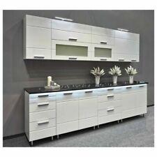 NEU hochwertige Küche 260cm Küchenzeile FRESH MDF Weiss Hochglanz Soft-Close