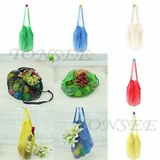 Home Reusable String Shopping Grocery Bag Market Shopper Cotton Mesh Net Fruit