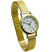 Ravel Ladies White Clear Face Watch With Silver Coloured Expanding Strap