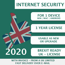 Kaspersky Internet Security 2020 [1 PC, 1 Device, 1 User - KEY - ESD]