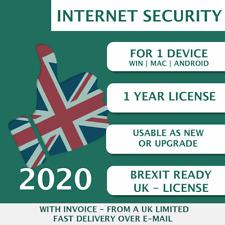 Kaspersky Internet Security 2020 [1 PC, 1 Device, 1 User - KEY - ESD]