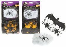Spiders Bats Web Halloween Party Spooky Scary Cob Deco Creepy Crawlies Horrors