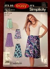 Simplicity 2210 Pull On Skirt 2 Lengths Size 10-20 Uncut It's So Easy Fun