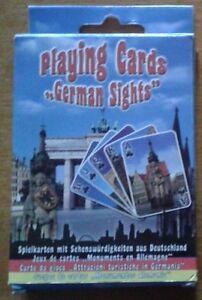 CARTE DA GIOCO attrazioni turistiche Germania PLAYING CARDS GERMAN SIGHTS poker
