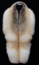 Premium Golden Island Fox Fur Handmade Stole Boa Shawl Shoulder Wrap 70""
