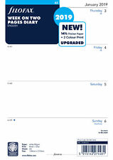 Filofax - A5 Week On Two Pages English 2019 Diary Refills
