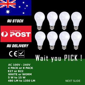 AU B22 E27 Bayonet Screw 5/7/9/12/15W Energy Saving LED Globe Light Lamp Bulb