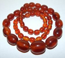 Amber Plastic Necklace Art Deco Costume Jewellery