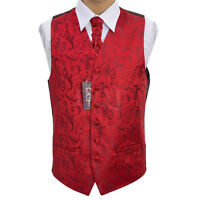 Homme Bordeaux Passion Gilet Mariage Taille 91.4cm-127cm Cravate De Choix,