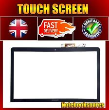 Sony VAIOSVF1521S2EW Genuine Black Touch Screen Digitizer Frame Outer Glass