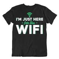 Wifi Humor Tshirt Programmer Language T-Shirt Networking Textile Tee