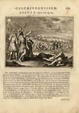 Antique Religious Print-SUN-MOON-STILL-Luiken-1712