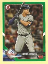 2018 Bowman Baseball Giancarlo Stanton Green Paper Parallel Yankees 54/99