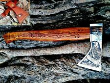 MDM Axe Viking Engraved Hand Tomahawk Mdm Custom Forged Vintage Battle Medieval