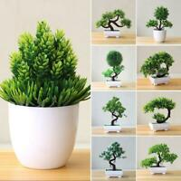 Artificial Plants Bonsai Small Tree Pot Fake Flowers Potted Ornaments Decor Home