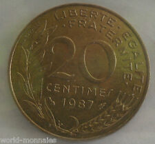 20 centimes marianne 1987 : TTB : pièce de monnaie française