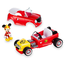 Disney Transforming Pullback Racer Toy Car w Mickey Mouse Figure, Racing, Kids