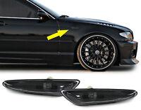 Seitenblinker smoke schwarz Paar für BMW 3ER E46 00-05 5er E60 E61 03-10 X3 E83