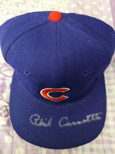 Phil Cavarretta Signed Autograoh Chicago Cubs Hat