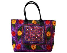 Purple Women Shoulder Handbags Handmade Hobo Shopping Beach Hippie Bag UK