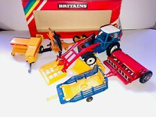 Britains Ford 7710 Tractor loader job lot