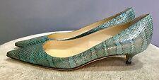 Jimmy Choo Piel De Serpiente Tribunal Zapatos UK5.5 Nuevo