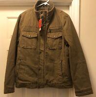 New With Tags Men's Levi's Full Zip & Button Down Jacket  Khaki Men's Size M