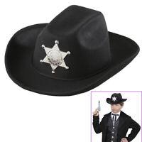 COWBOY KOSTÜM /& HUT KINDER Karneval Fasching Party Western Sheriff Weste # 0727