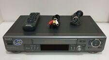 SONY SLV-EZ44 VHS Player VCR Video Cassette Recorder PAL NTSC Playback w/ Remote