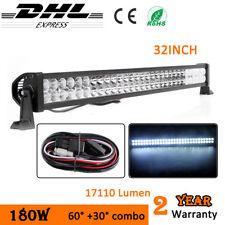 34inch 180W LED Work Light Bar Combo Beam Offroad Car Jeep Wrangler SUV 12V 24V