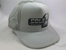 Cole Chevrolet Cadillac Geo Dealership #1 Hat Vintage Gray Snapback Trucker Cap