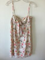 d215a2e64b Fox Hawaiian Dress Lined Spaghetti Straps Cotton Floral Hibiscus Women's M  NWOT