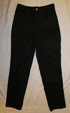 ST JOHN SPORT MARIE GRAY twill career straight leg black pants 4 NWOT