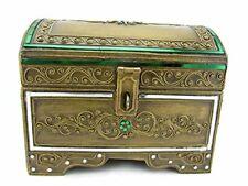 Wooden Treasure Chest Bejeweled Jewelry Trinket Keepsake Box Container Handmade