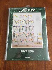 Floral Vinyl Shower Curtain by Allure 70 x 72 April Garden Flowers