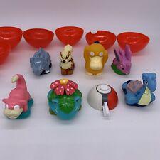 1999 Burger King Pokemon Toy Lot of 7 Launchers - Psyduck, Lapras, Venusaur