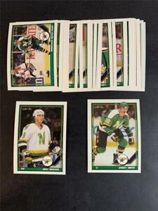 1991/92 OPC O-Pee-Chee Minnesota North Stars Team Set 23 Cards