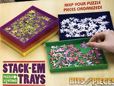 Bits and Pieces - Puzzle Stack-Em Sorting Trays - Puzzle Piece Sorter Free Ship